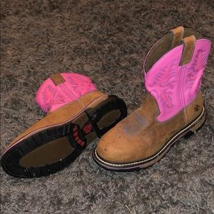 Rocky Shoes - Women's rocky pink and brown leather boots